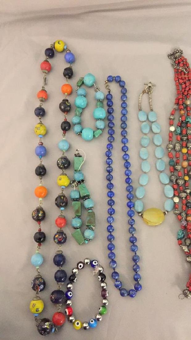 Lot of Stone Necklaces and Jewelry - 2