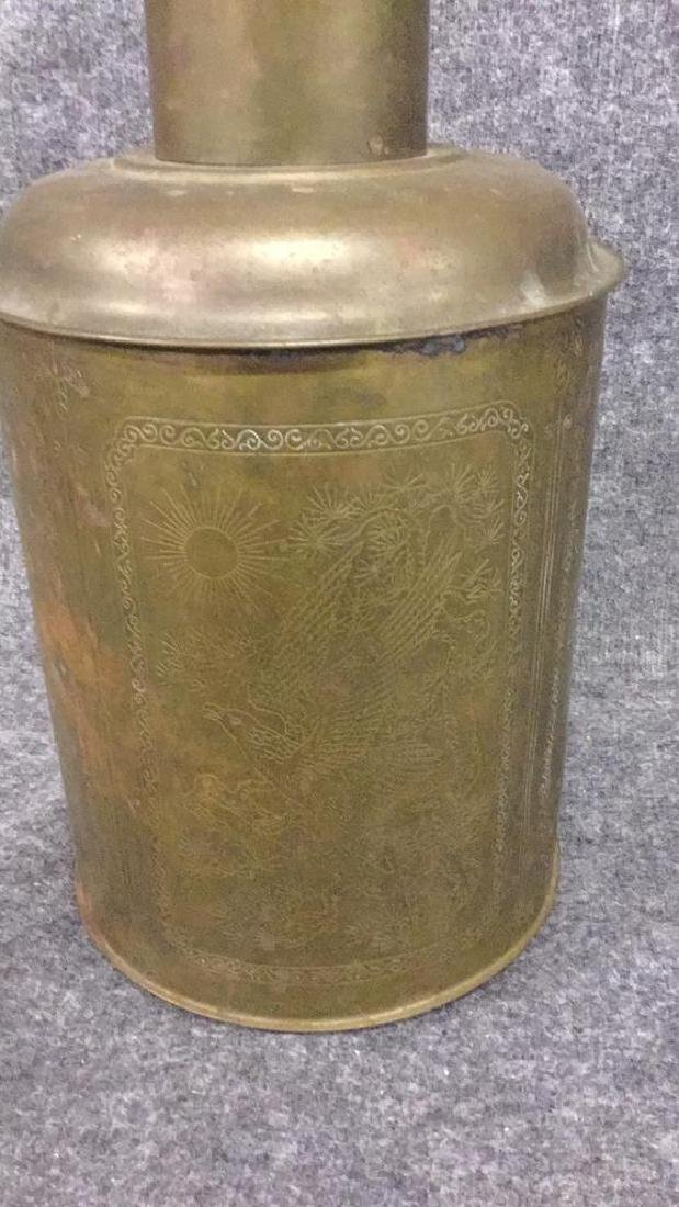 Brass Asian Decorated container - 2