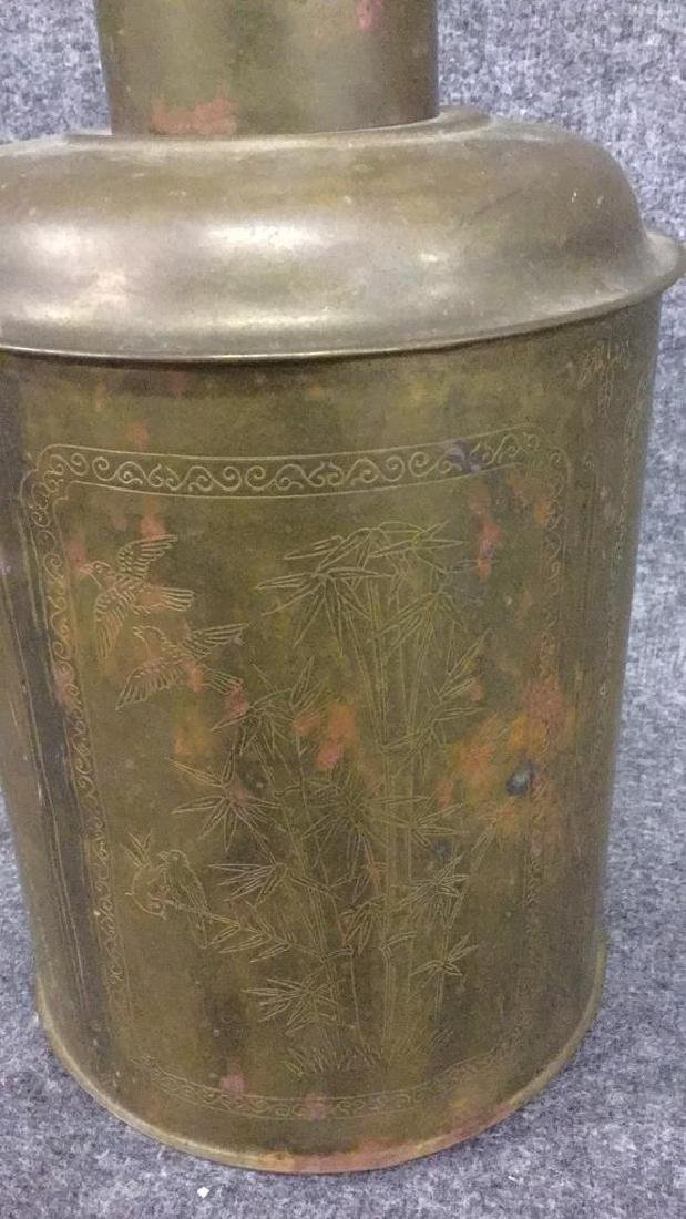 Brass Asian Decorated container - 3