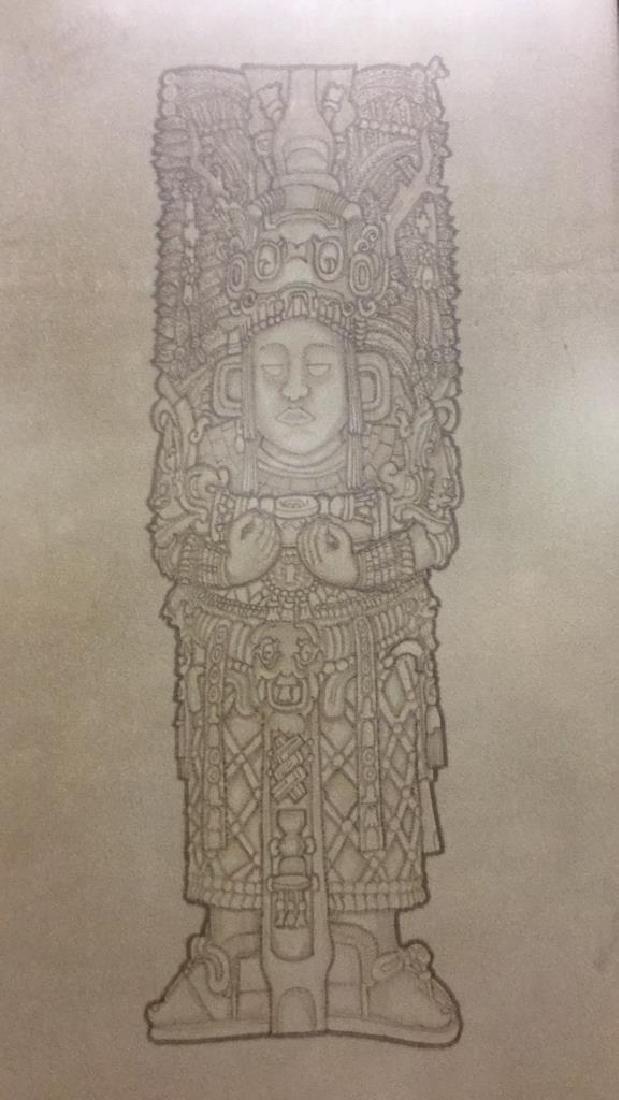 Maya Chief tile artwork. - 2