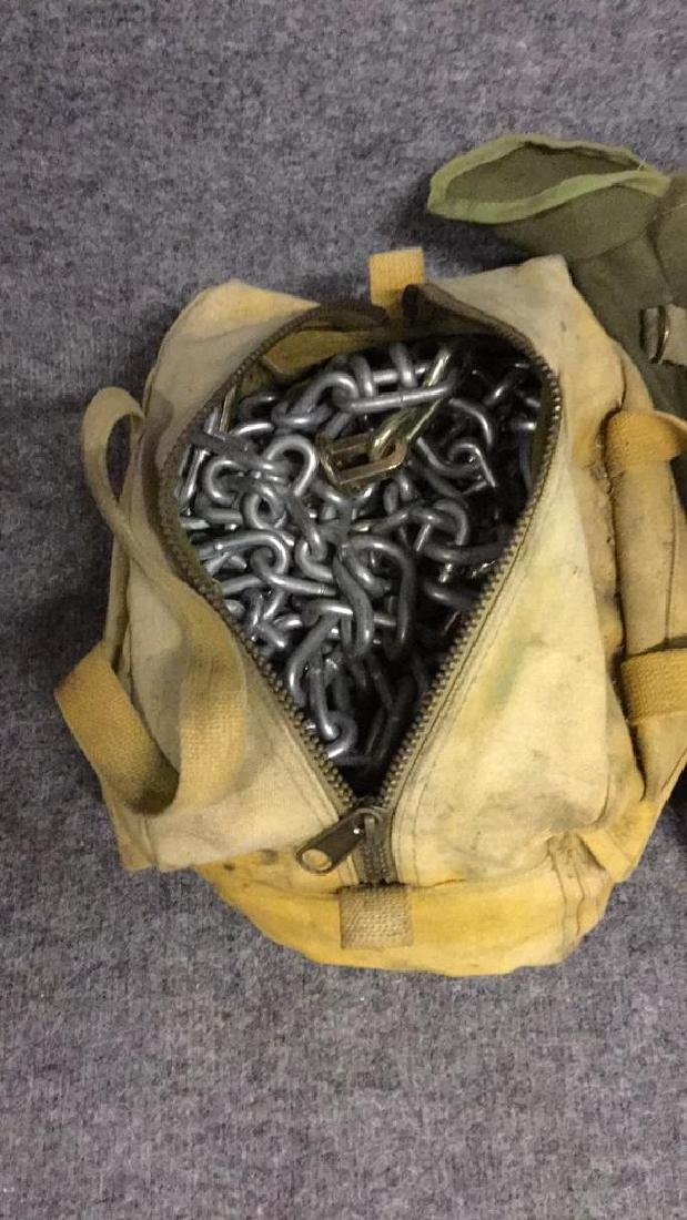 Towing chains and army ammunition bag - 2