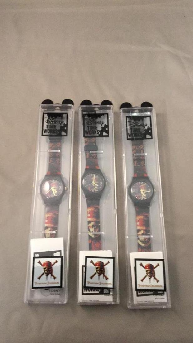 Three Disney Pirates of the Caribbean watches