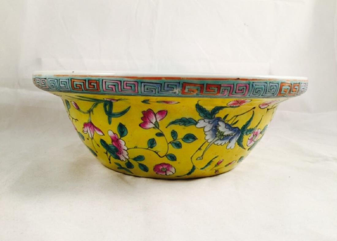 Chinese famille rose porcelain basin