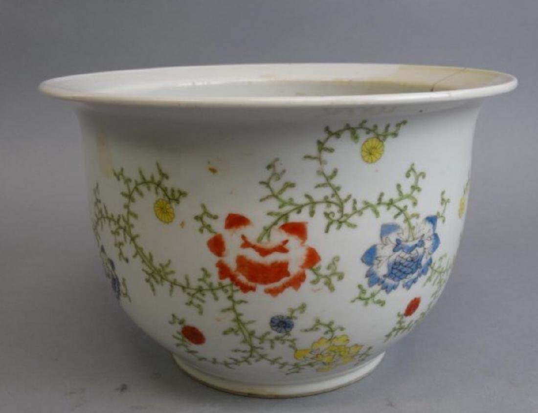 Chinese republic famille rose planter