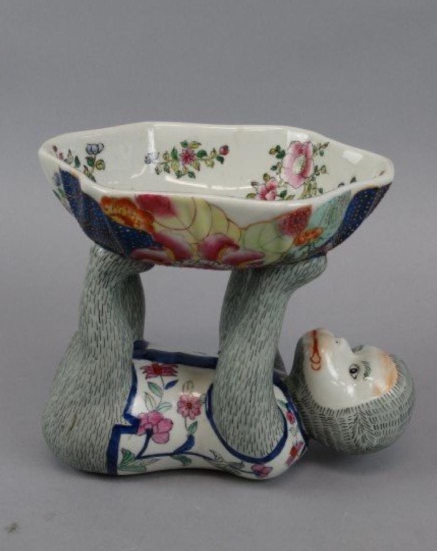 Chinese famille rose monkey bowl - 2