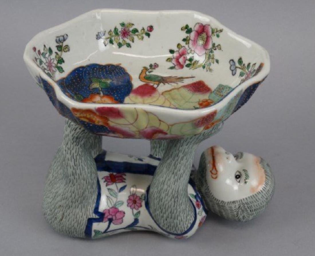 Chinese famille rose monkey bowl - 3