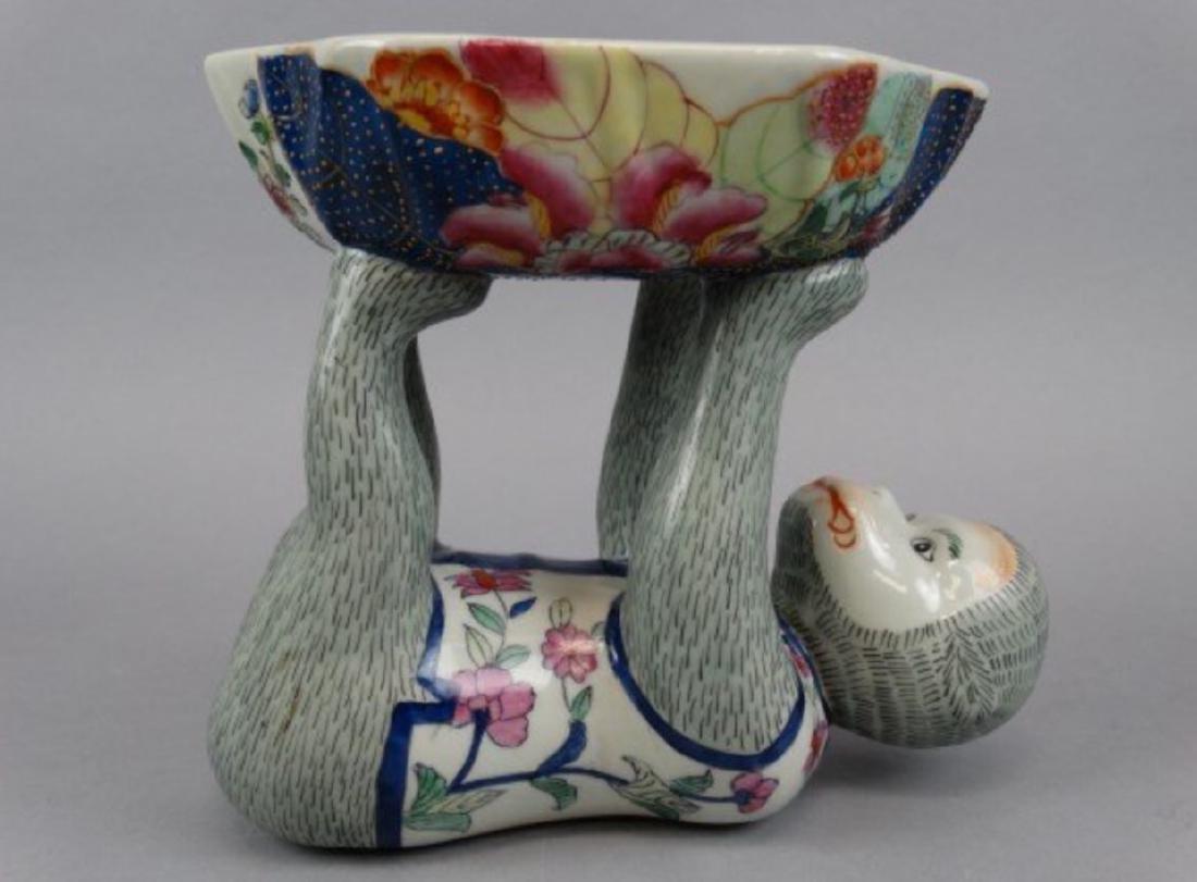 Chinese famille rose monkey bowl - 5