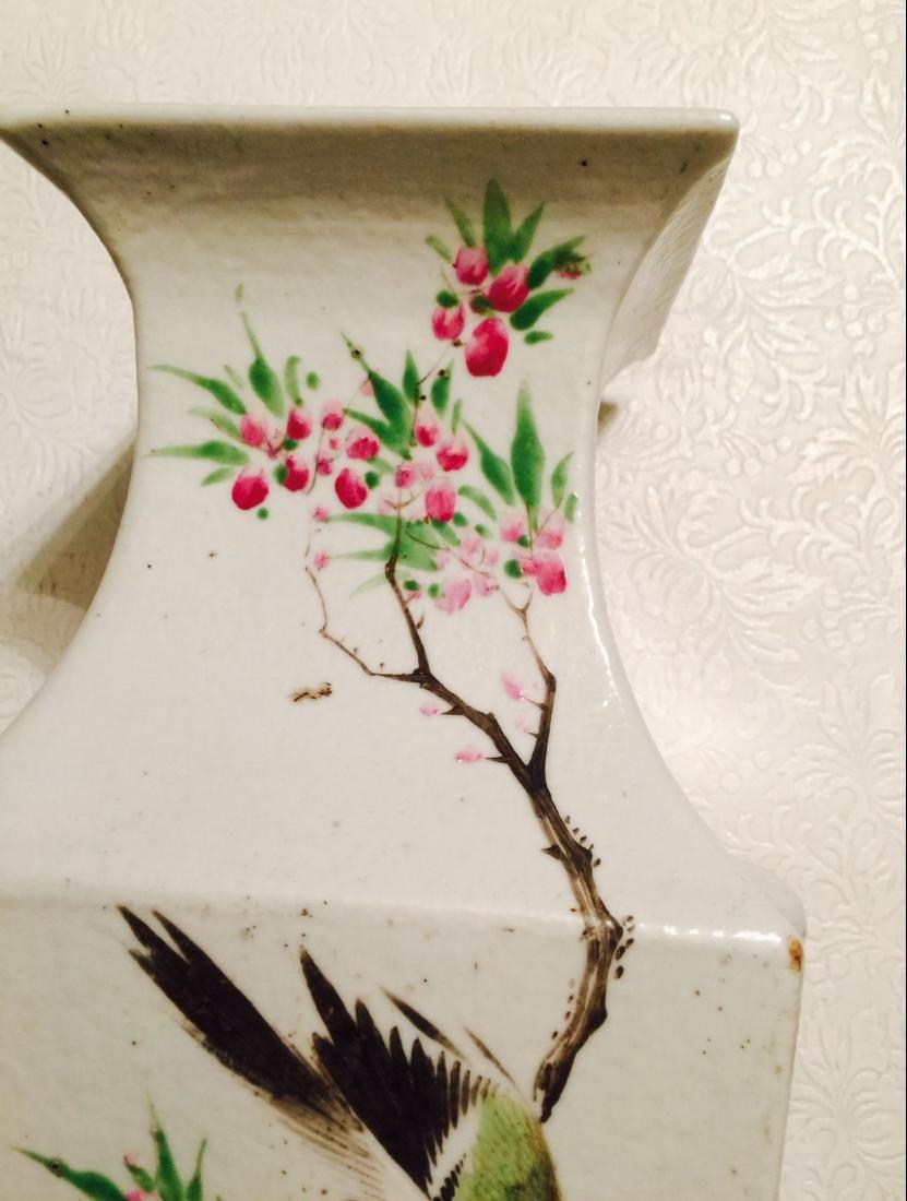Chinese antique porcelain square vase - 4