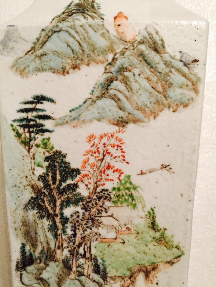 Chinese antique porcelain square vase - 5