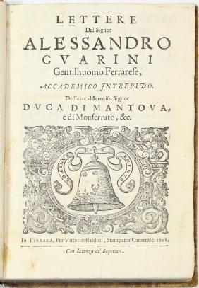 [Literature]GUARINI-LETTERE DEL SIGNOR ALESSANDRO