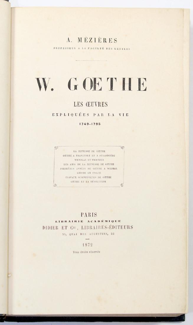 [Literature]MEZIERES-W. GOETHE. LES OEUVRES EXPLIQUEES