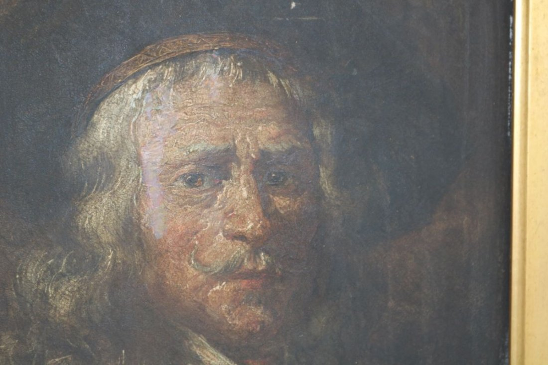 After Rembrandt Very Old Antique Painting on Wood