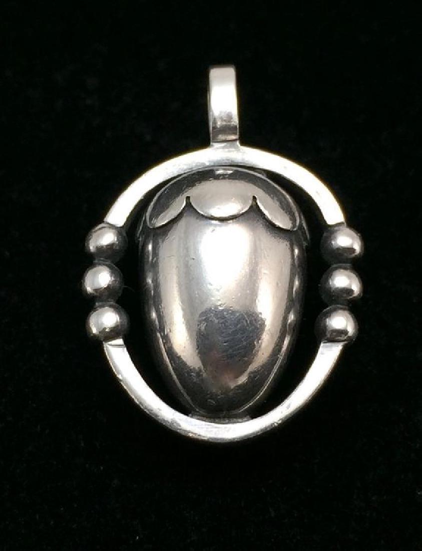 Georg Jensen Sterling Silver 925 Acorn Pendant