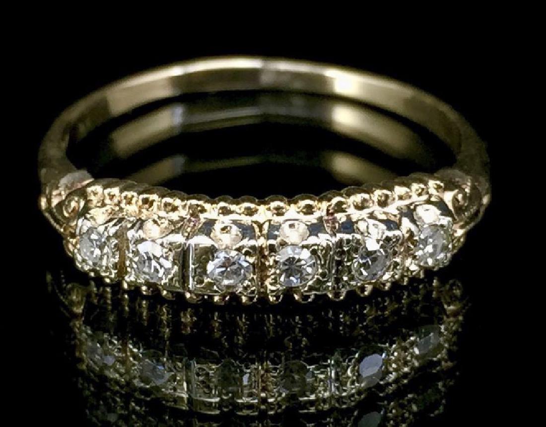 14K Gold Diamond Wedding Set - 2