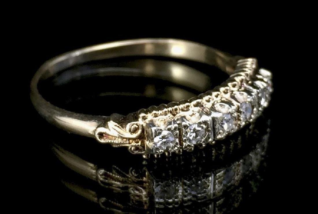 14K Gold Diamond Wedding Set - 3