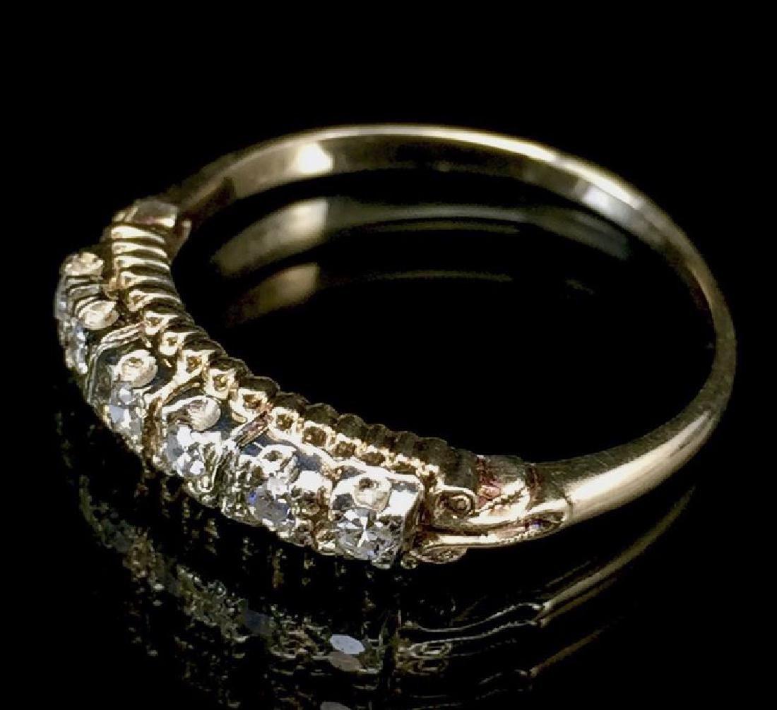 14K Gold Diamond Wedding Set - 4