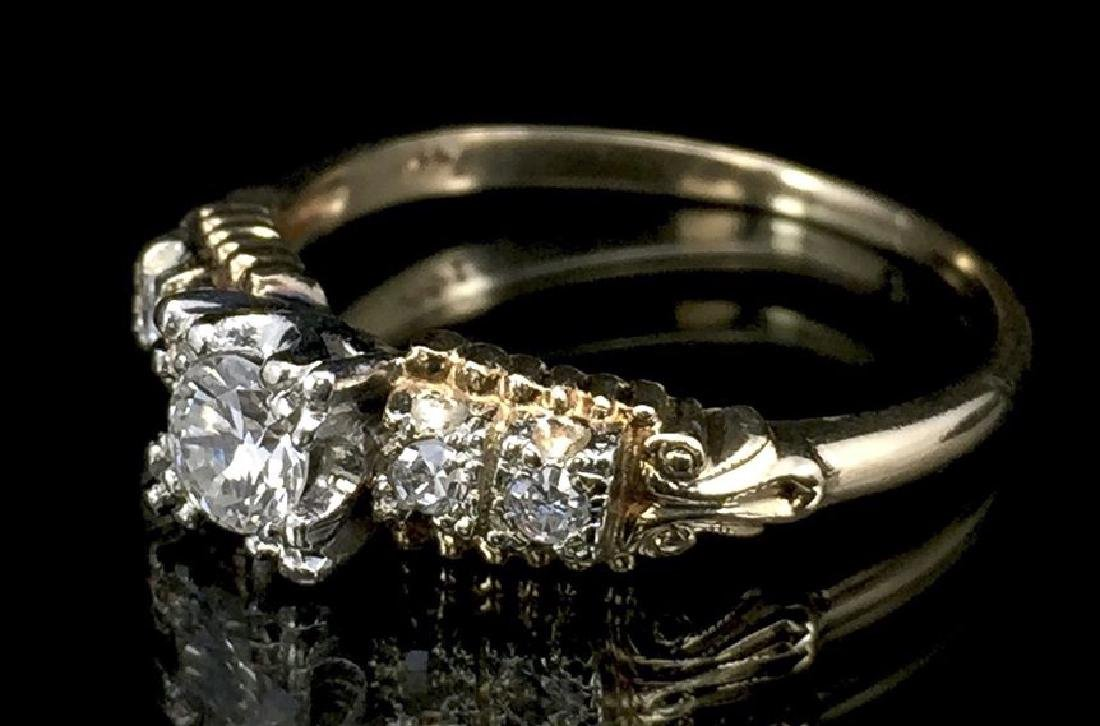 14K Gold Diamond Wedding Set - 7