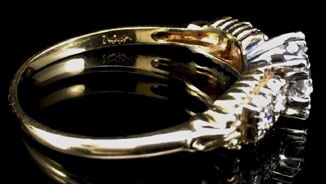 14K Gold Diamond Wedding Set - 8