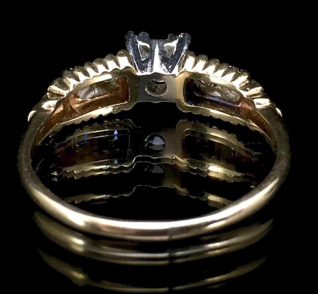 14K Gold Diamond Wedding Set - 9