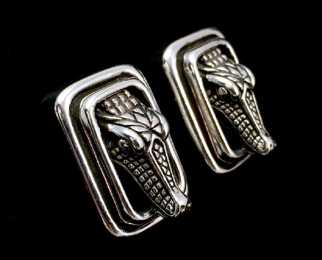 Barry Kieselstein Sterling Silver 925 Clip-On Alligator - 2