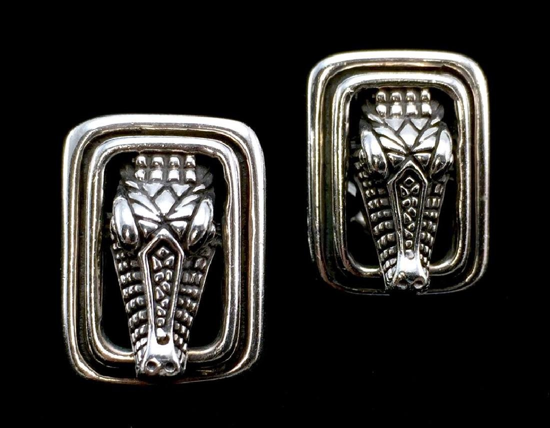 Barry Kieselstein Sterling Silver 925 Clip-On Alligator - 3
