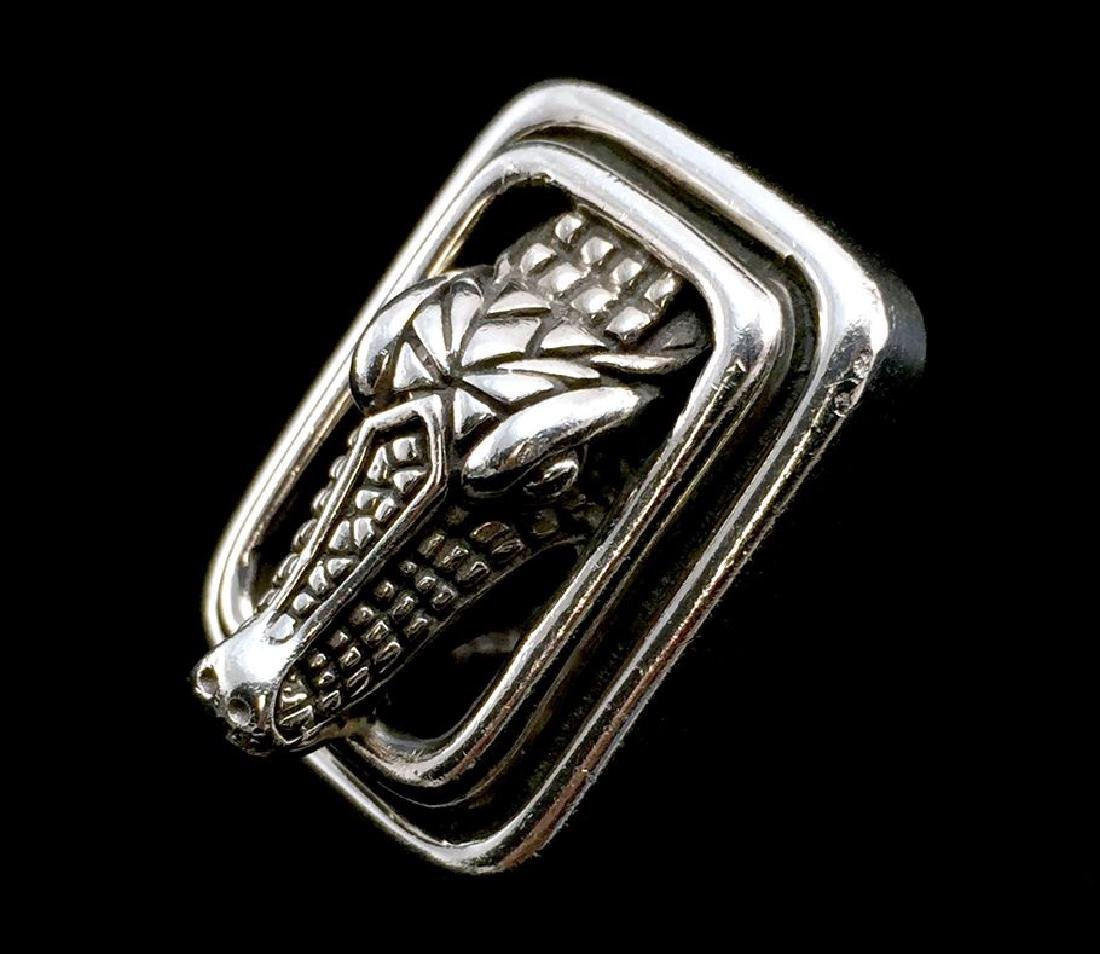 Barry Kieselstein Sterling Silver 925 Clip-On Alligator - 7