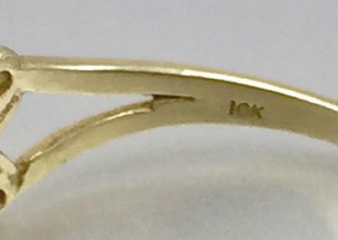 10 Karat Gold Ring With Ruby - 5