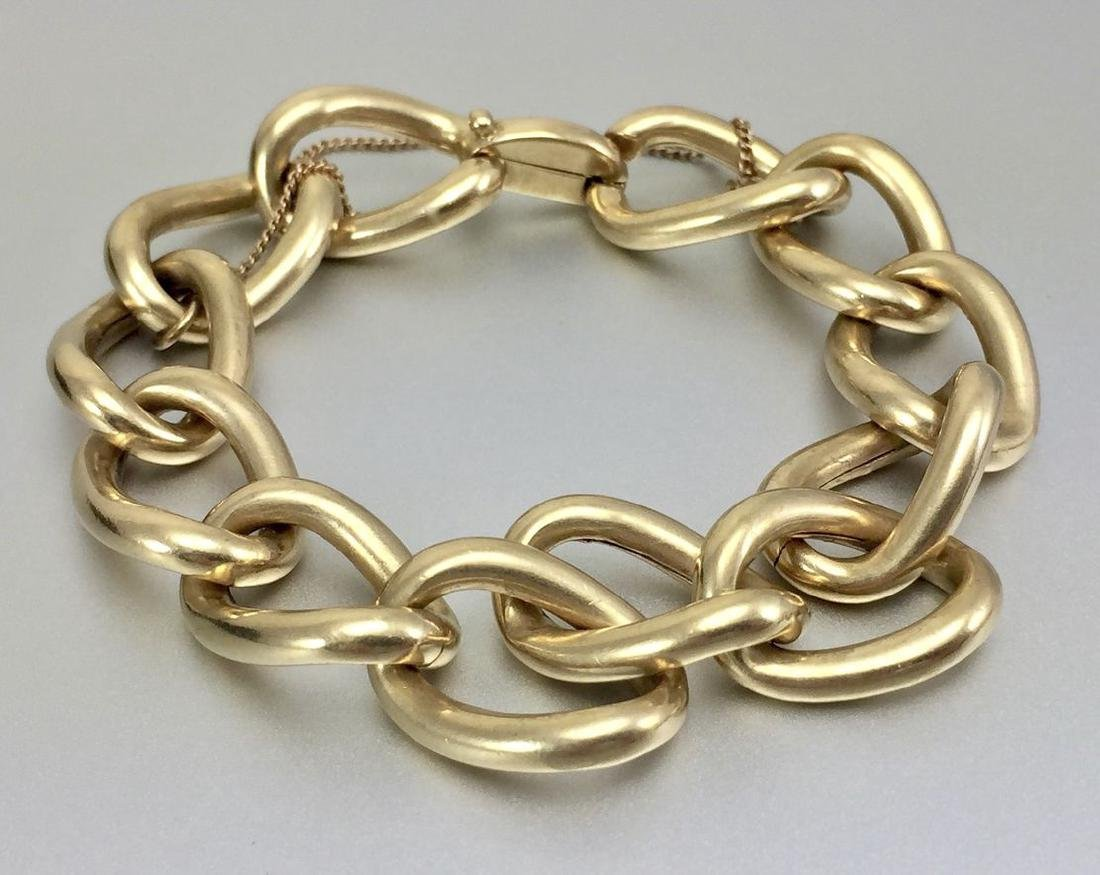 Beautiful 14k Gold Hollow Link Bracelet