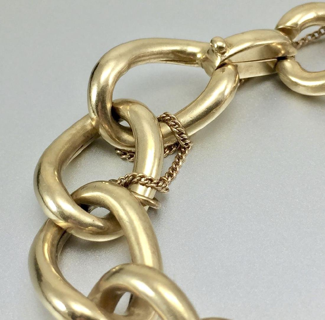 Beautiful 14k Gold Hollow Link Bracelet - 3