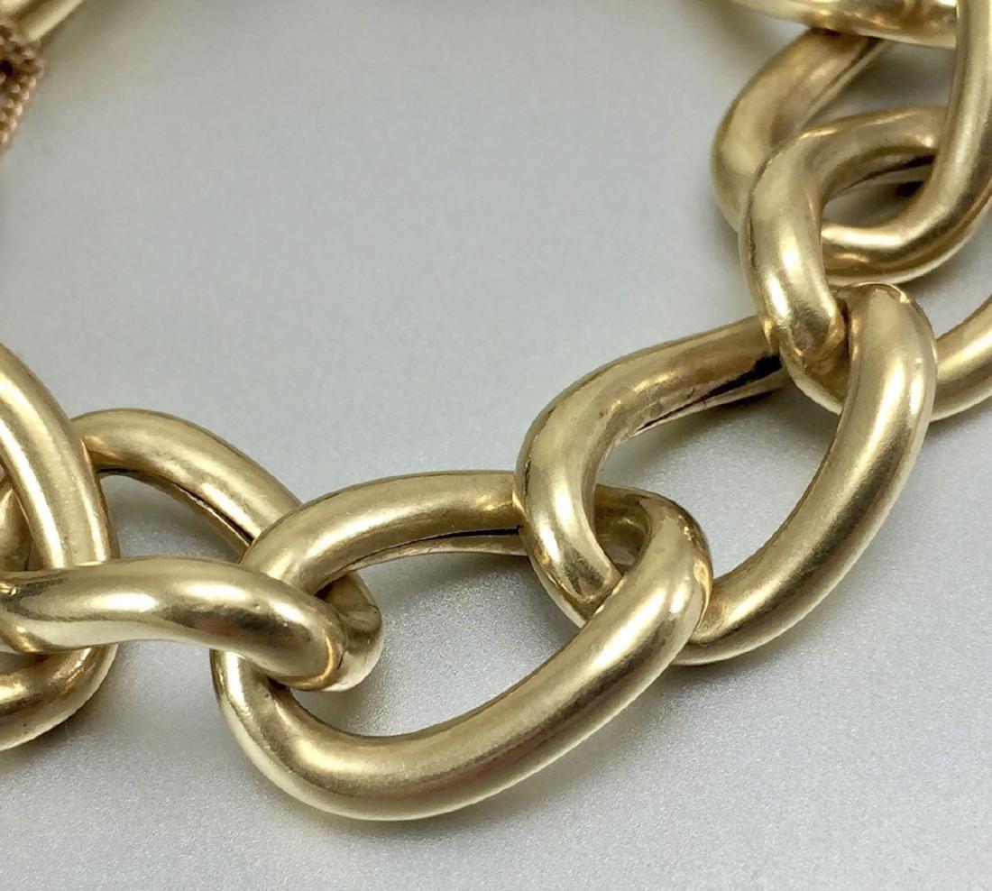 Beautiful 14k Gold Hollow Link Bracelet - 4
