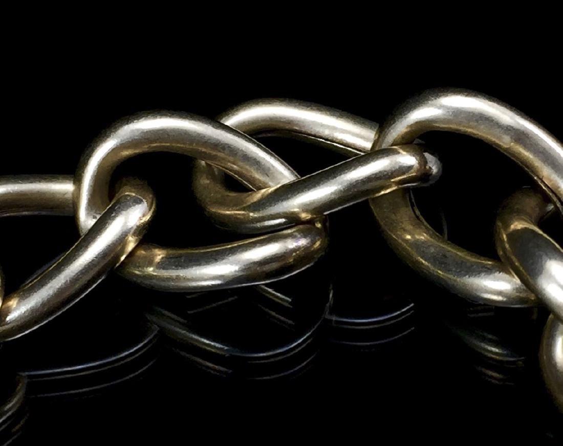 Beautiful 14k Gold Hollow Link Bracelet - 9