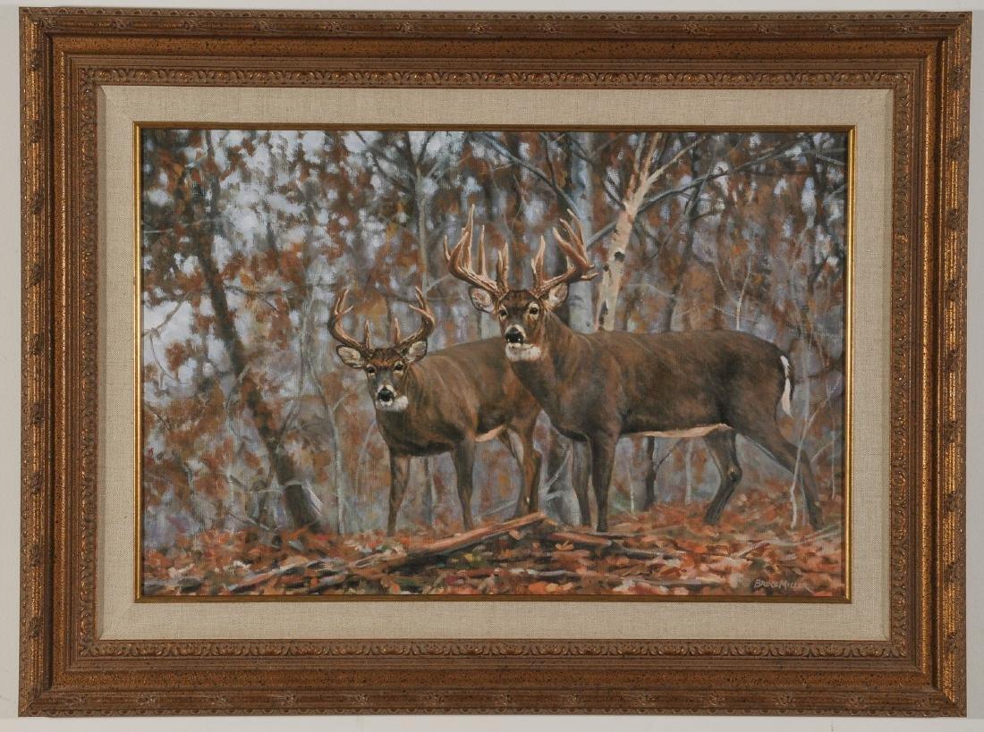 Bruce Miller Signed Print: On the Ridge: Whitetail Deer