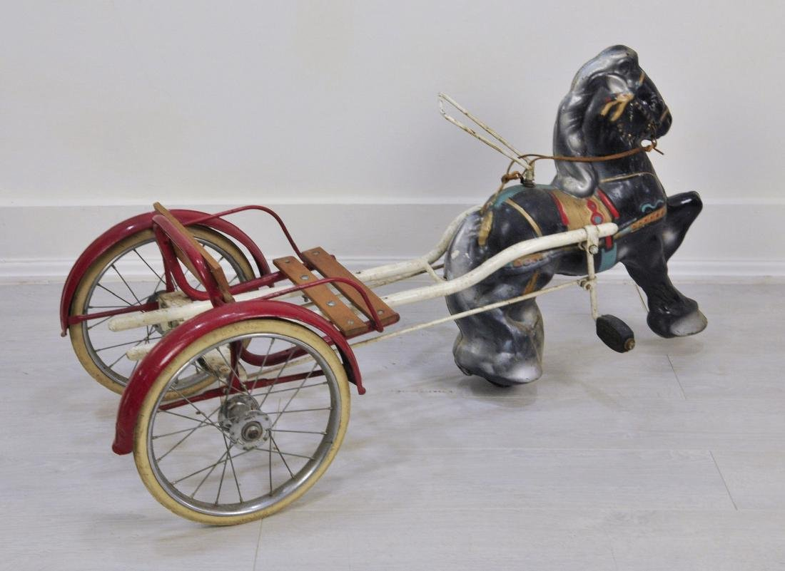 1940s Pedal Horse and Cart by MOBO