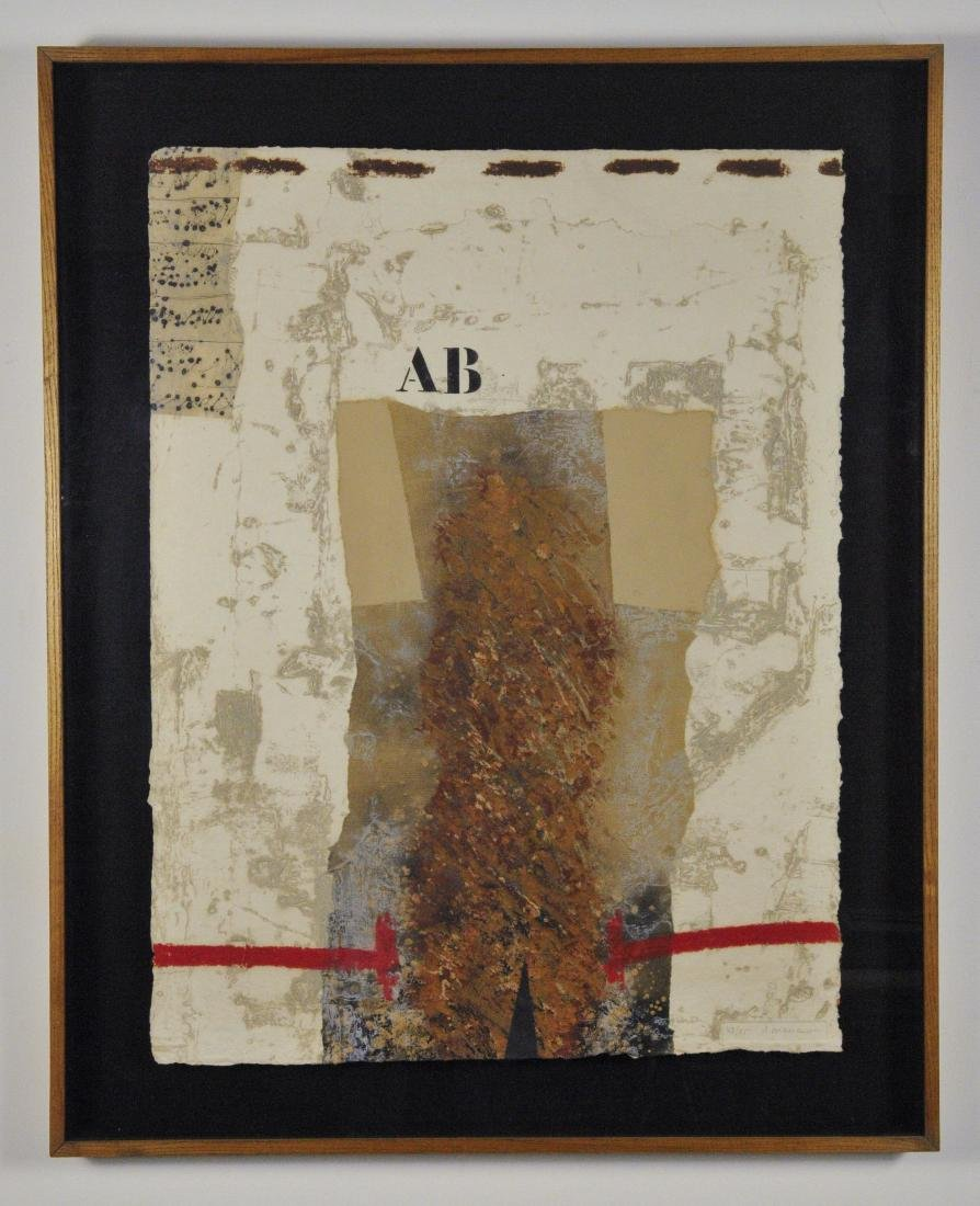 James Coignard Carborundum Etching, one of two in a