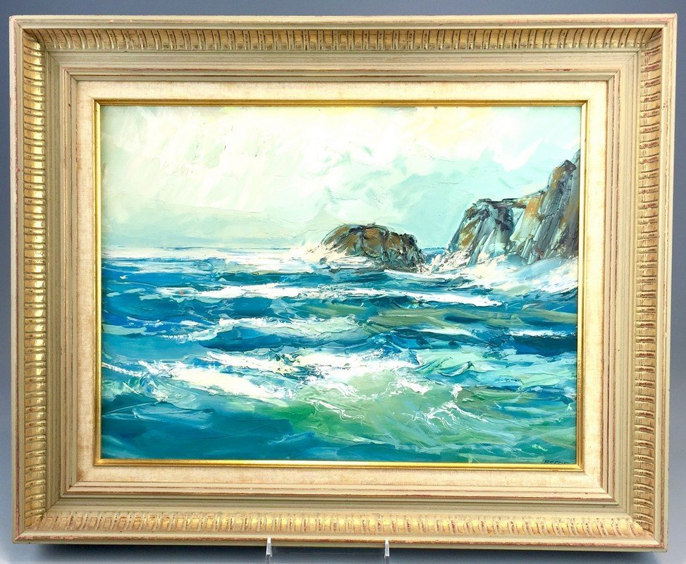 Framed Oil on Canvas by Sydney Berne
