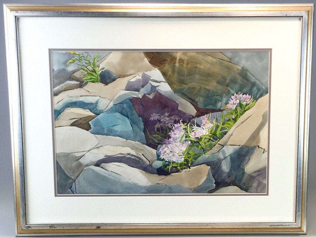 Framed Watercolor by Georgia B. Asher