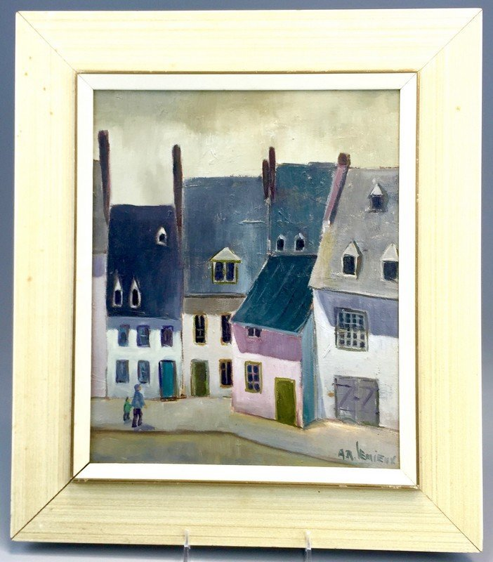 Framed Oil on Canvas by A.R. Lemieux