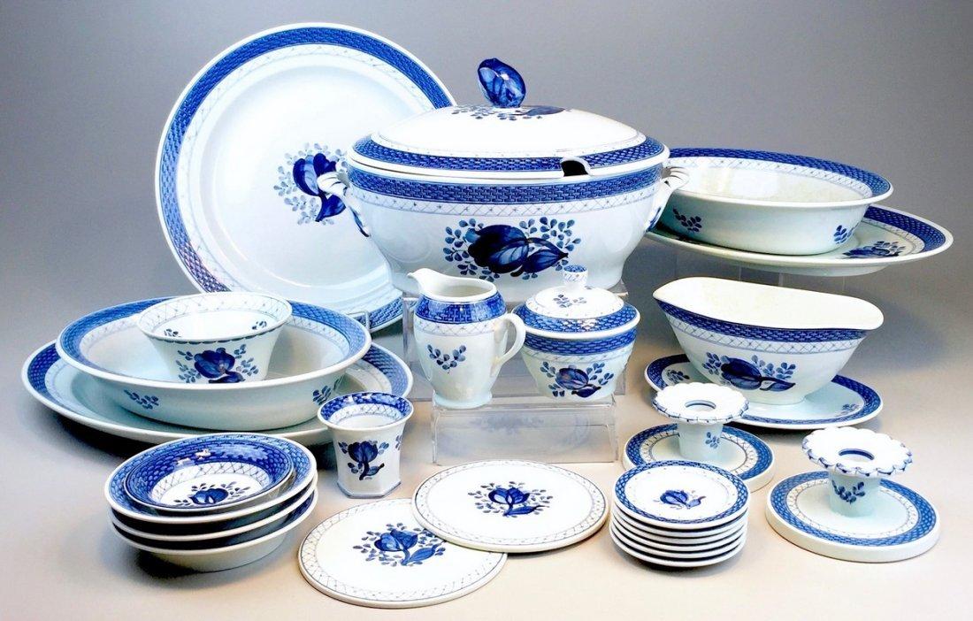 Tranquebar Blue (Rim) by Royal Copenhagen 25 Piece