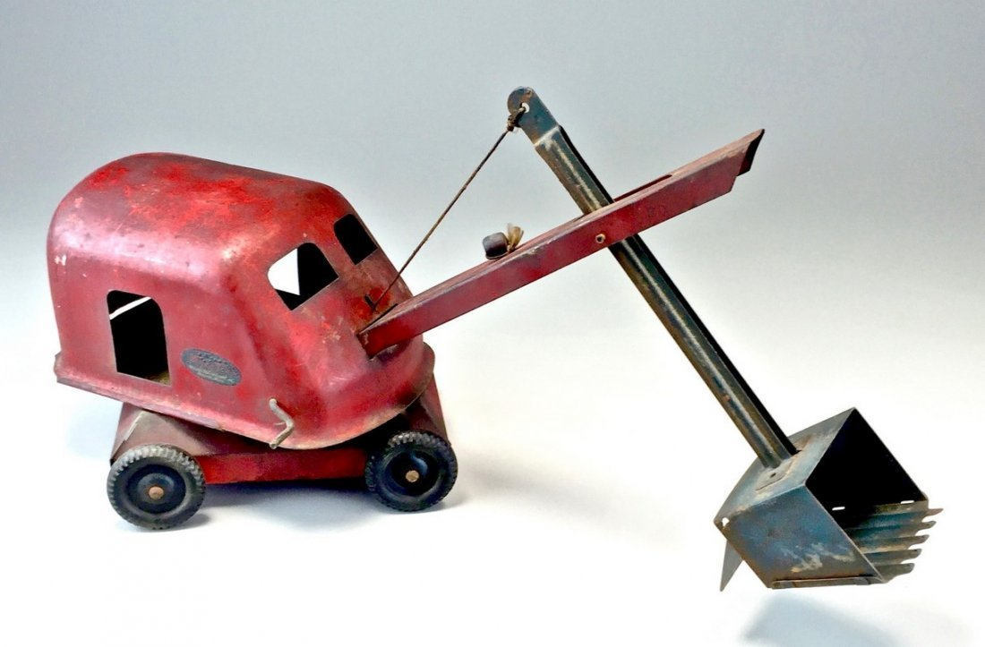 Vintage Red Tonka Toy Steam Shovel