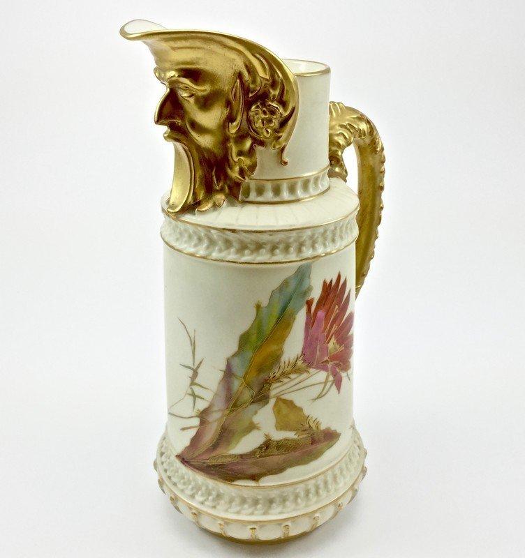 Royal Worcester Figural Wind Spout Pitcher