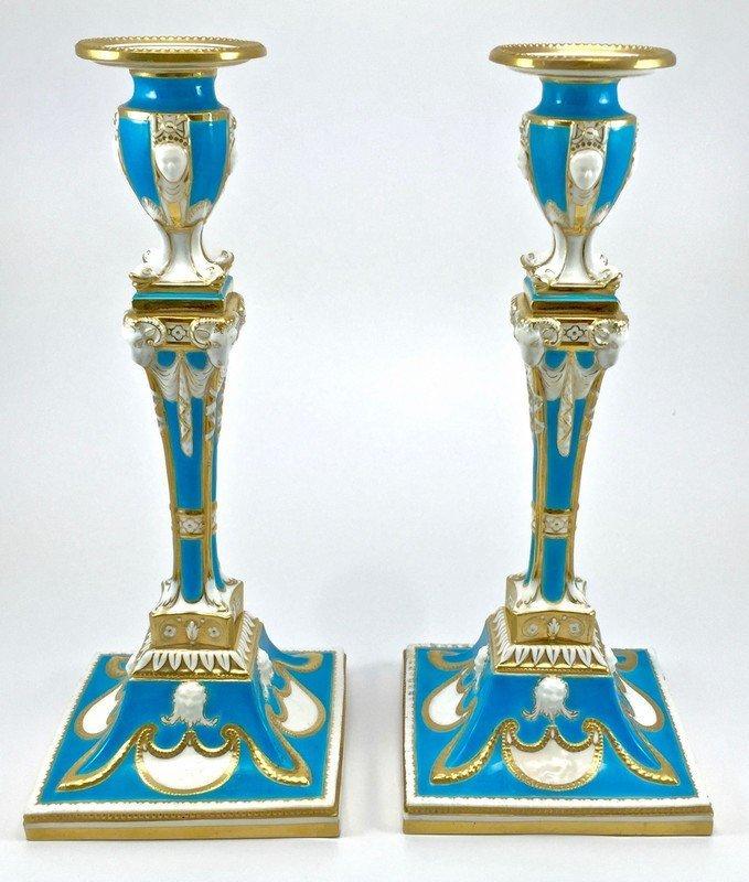 Pair of Minton's Candlesticks
