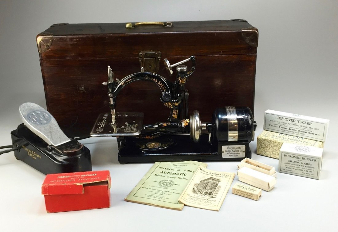 Antique Willcox & Gibbs Sewing Machine