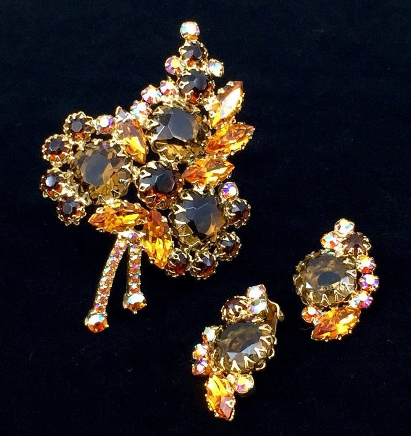 Vintage Juliana Brooch and Earrings