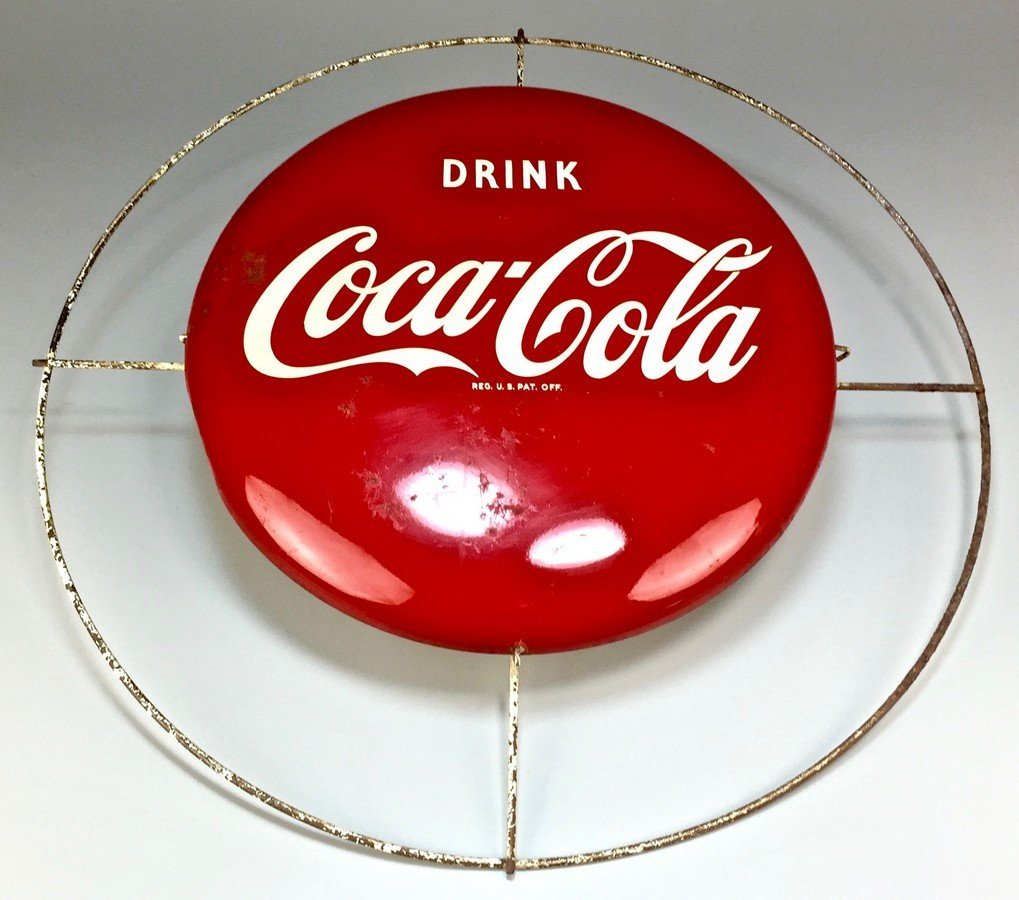 Rare Coca-Cola Lit Button Sign