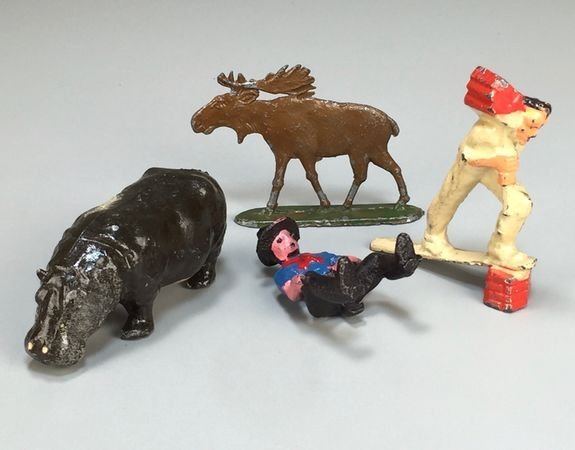 Assorted Vintage Cast Metal Figures