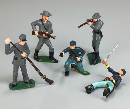 Marx Vintage Plastic Civil War Soldiers