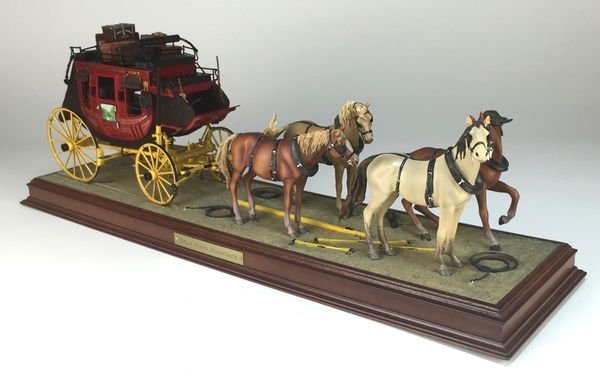 Franklin Mint Wells Fargo Four-Horse Team Diorama