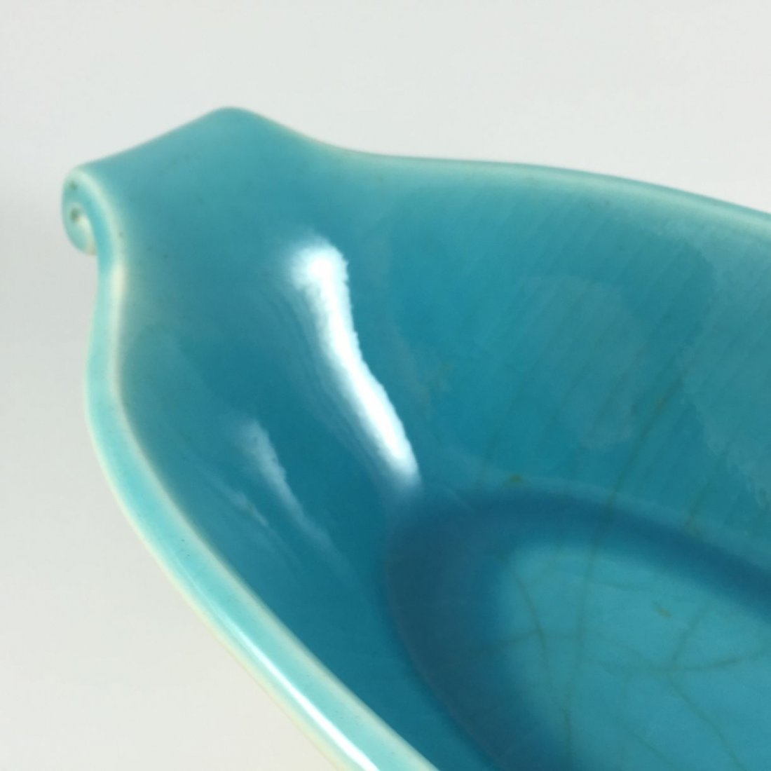 Lovely Rookwood Oval Turquoise Centerpiece Bowl - 10