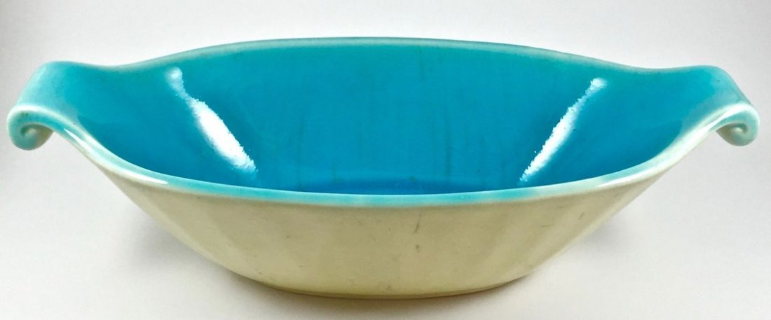 Lovely Rookwood Oval Turquoise Centerpiece Bowl