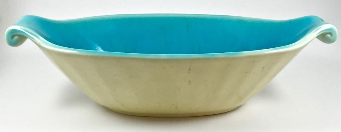 Lovely Rookwood Oval Turquoise Centerpiece Bowl - 2